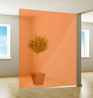 Colored window film| Excellent | Orange