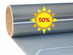 Sun protection window film Excellent Mirror 50| Exterior