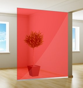 Colored window film | Excellent | Red