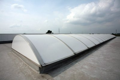 Sample Sun protection Roofshield White Polycarbonate Ext.